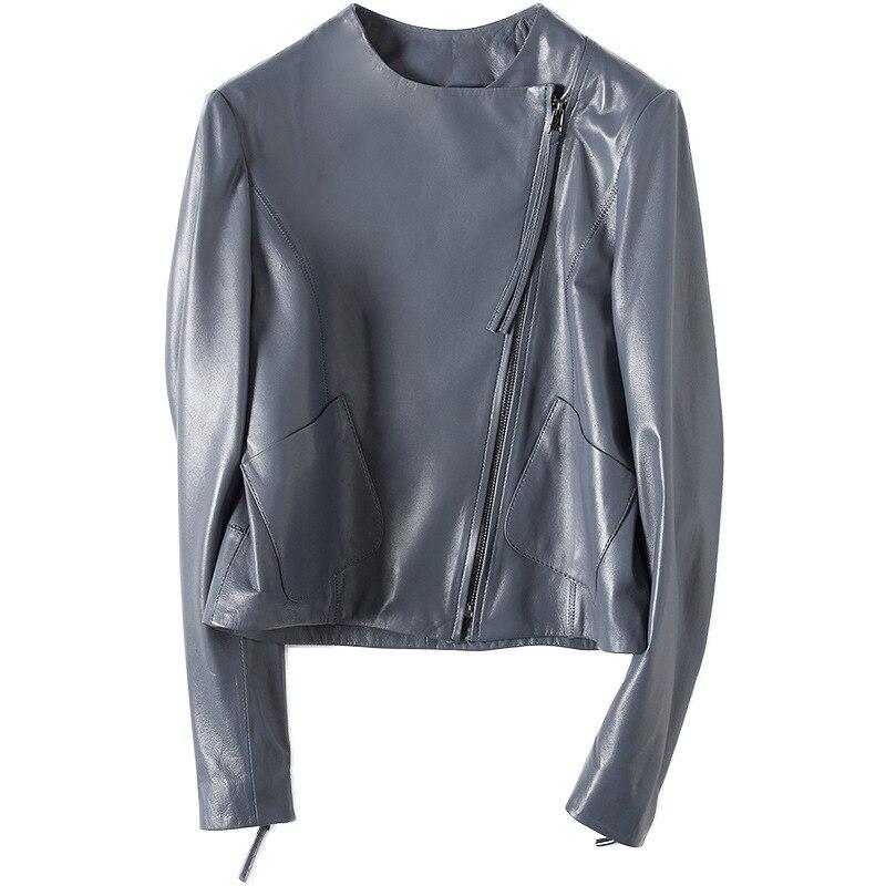 734b9f3de9d9 MLCRIYG 100% пояса из натуральной кожи куртка для женщин 2019 овчины пальто  женские короткие осень весна пальто для будущих мам YQ320 - b.mamix.me