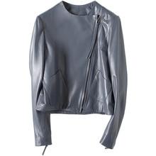 MLCRIYG 100% Genuine Leather Jacket Women 2018 Natural Sheepskin Coat Female Short Autumn Spring Real Leather Coats YQ320