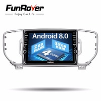 Funrover 8 IPS 2 din Android 8.0 car dvd player for KIA sportage KX5 2016 2017 Car Radio Multimedia Video gps navigation Player