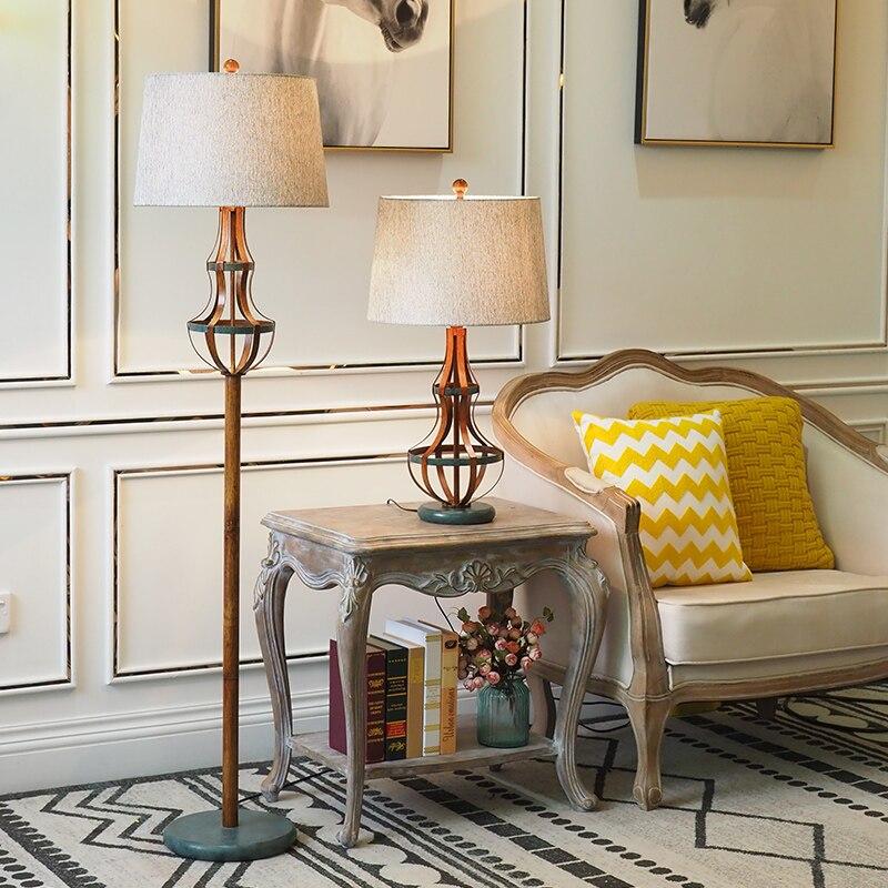 Lampadaire moderne rétro résine Style industriel créatif lampadaire salon chambre maison hôtel E27 luminaire au sol