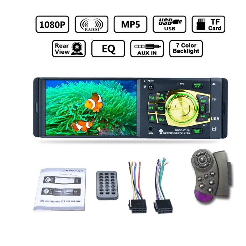 """imágenes para 4032B 4.1 """"Cámara de Visión Trasera Bluetooth Mp5 Solo Huso Radio U Disco Reproductor de MP3 con Cámara Car Stereo Audio Reproductor MP5"""