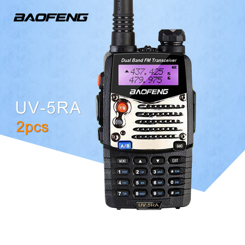 (2 PCS)Baofeng UV5RA Ham Two Way Radio Dual-Band 136-174/<font><b>400</b></font>-520 <font><b>MHz</b></font> Baofeng UV-5RA Walkie Talkie Radio Transceiver Black image