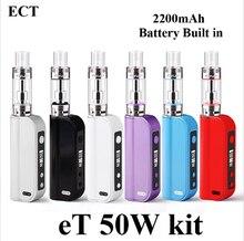 Electronic Cigarette Kit Vape Box Mod E Cigarette ECT eT 50 50W Vaporizer Mini Electronic Hookah Shisha Pen vaporizer pen