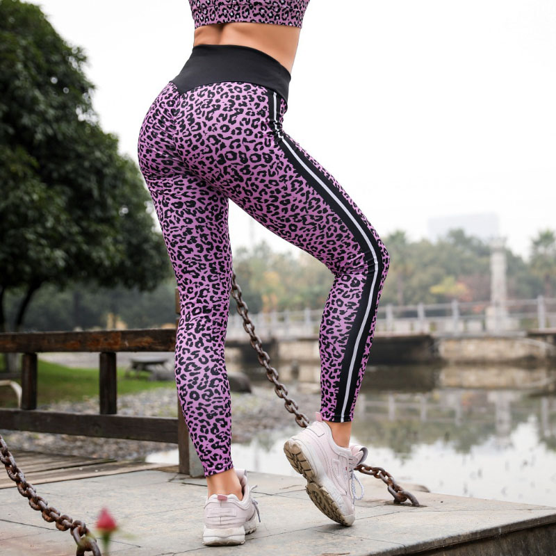 Women's High Waist Push Up Jeggings Knitted Sexy Leopard Printing Leggings Fitness Push Up Pants Female High Quality Leggings 1