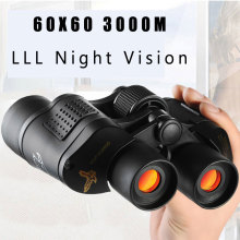 60x60 3000 м HD Профессиональный охотничий бинокль телескоп ночного видения для походов, походов, полетов, лесных работ, противопожарная защита