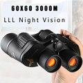 Профессиональный охотничий HD бинокль 60x60 3000 м, телескоп с ночным видением для пеших прогулок, путешествий, полевых работ, лесного хозяйства, ...