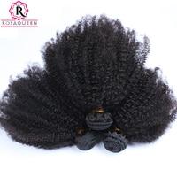 Mongolian Afro Kinky Curly Hair Weave Extensions 4B 4C 100 Natural Virgin Human Hair Bundles 3