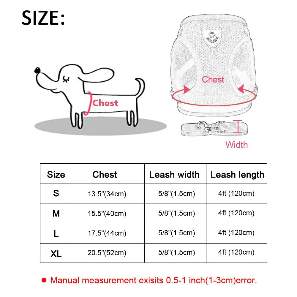 Pets Jacket Harness Leash