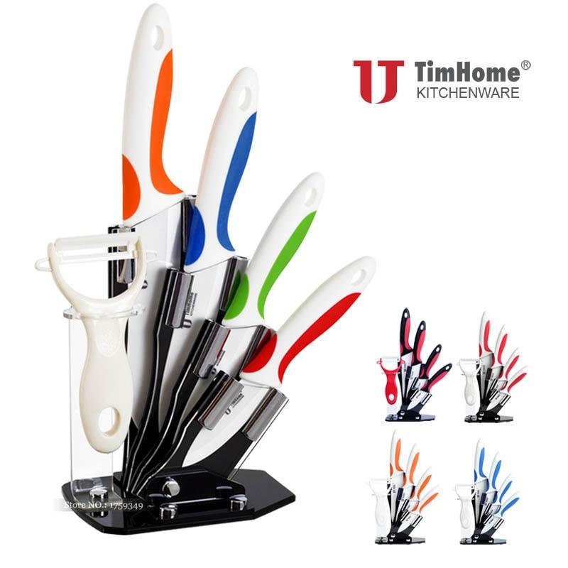 Ceramic knife set 3 4 5 6 kitchen knife for Gambar kitchen set high quality