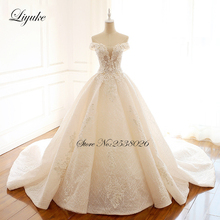Lustrous Embroidery Tulle With Beading 3D Flowers A-Line Wedding Dresses  Off The Shoulder Gown
