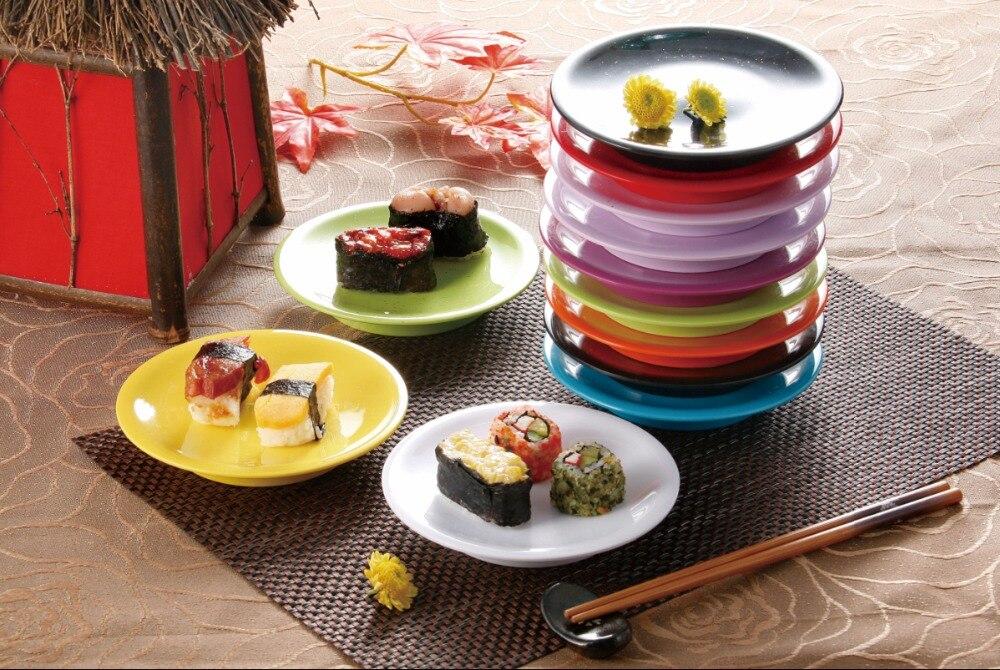 classique en plastique mlamine color sushi plaque pour kaiteen restaurant pas cher pour vente livraison gratuite fournisseur v - Vaisselle Colore Pas Cher