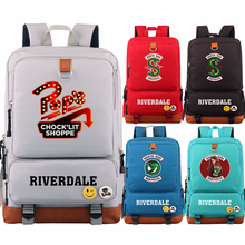 New Hot Snake Riverdale Pop's Chock'lit Shoppe Boy Girl School Bag Women Bagpack Teenagers Patchwork Canvas Men Student Backpack(China)