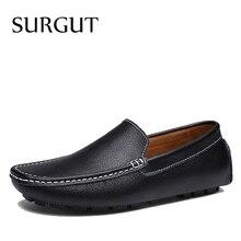 SURGUT chaussures plates pour hommes, chaussures plates en croûte de cuir de vache, chaussures de conduite, nouvelles couleurs, mocassins, offre spéciale, chaussures de loisir à la mode