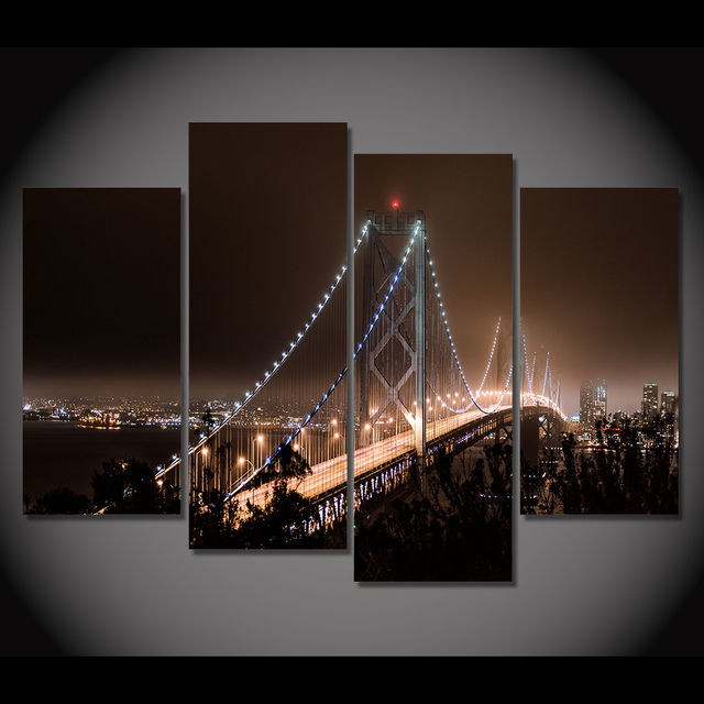 Print Canvas Painting San Francisco San Francisco Wall Art Picture Bar Cafe  Home Decoration Living Room