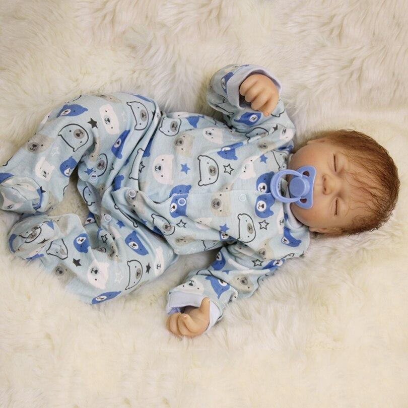 50cm Silicone Reborn Baby Sleeping Boy Dolls Toy For Sale Cheap Vinyl Newborn Alive Babies Dolls