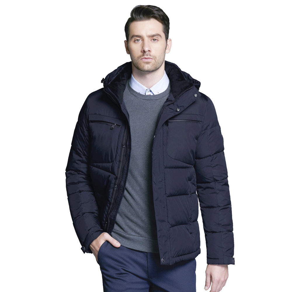 ICEbear 2017 Men's winter coat with breast pockets fashionable park with ergonomic design of high quality 17MD940D