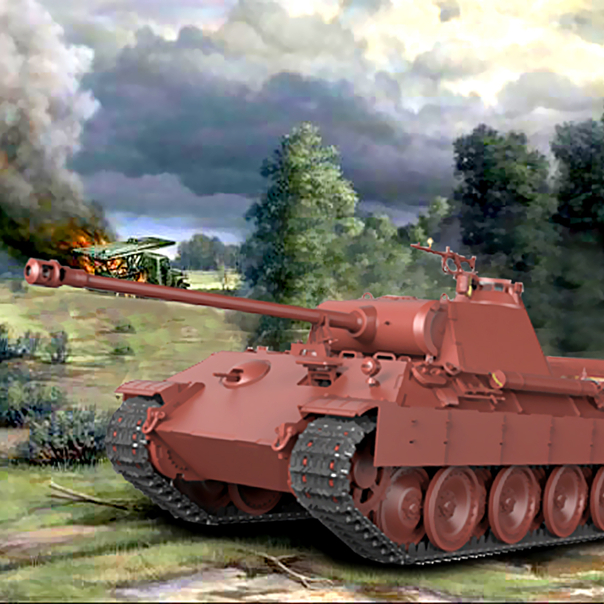 Tank Model Building Kits DIY Toy Kit For Meng TS-035 Sd.Kfz.171 Panther Ausf.A Late WWII Military Creation 1:35 Great Fun