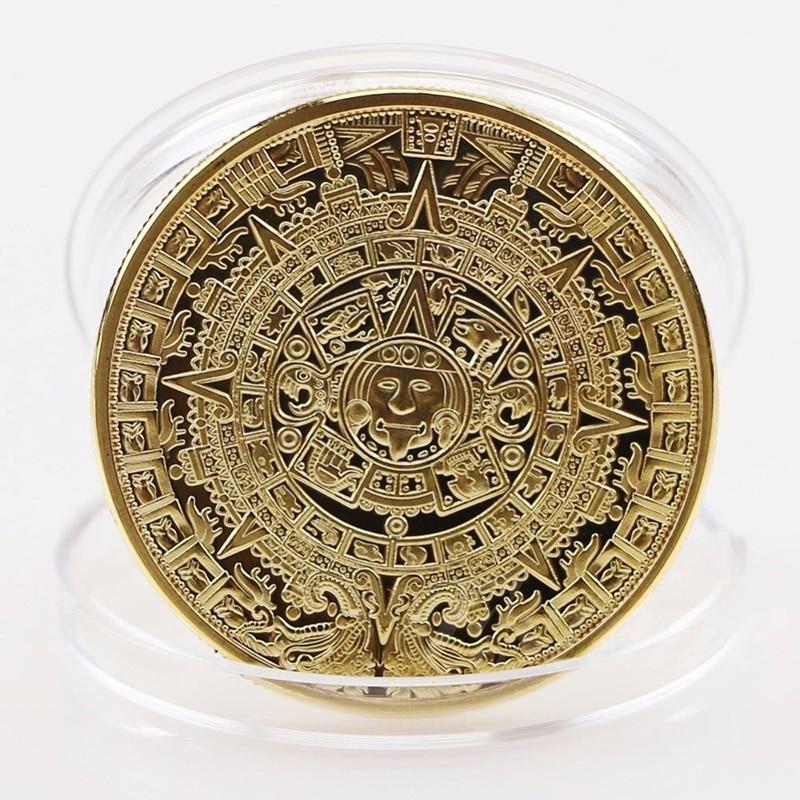 As Giftsgold Plated Silver Maya Aztec Calendar Commemorative