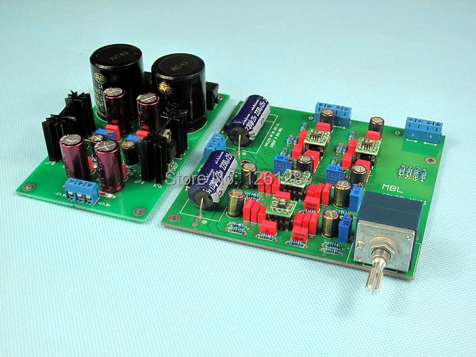 YS Assembled MBL Hi end preamp board base on MBL6010D circuit