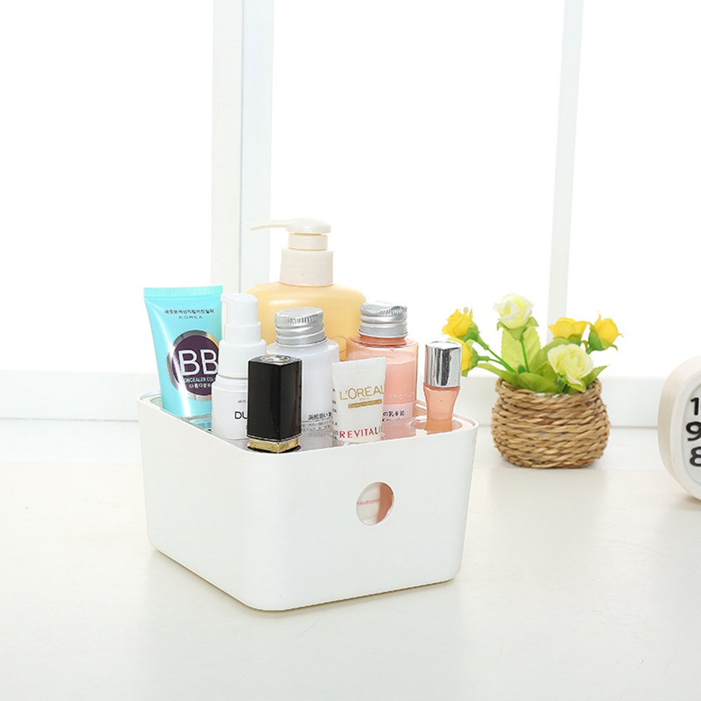 Cosmetic storage box can be divided into washing, cosmetics, desktop, sundries, multi-function desktop storage box