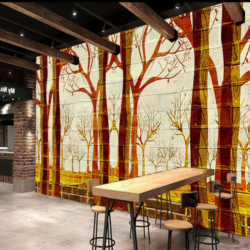 Free Shipping Woods Art Background Wall painting bedroom living room wallpaper 3D stereo restaurant bathroom mural  free shipping basketball function restaurant background wall waterproof high quality stereo bedroom living room mural wallpaper