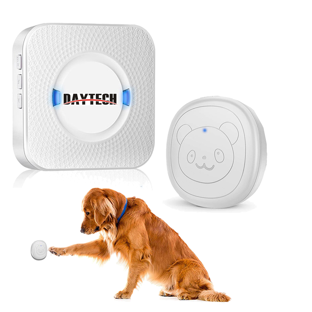 DAYTECH Wireless Doorbell For Pets Dog Door Bell Wireless Doggie Doorbell For Potty Training With Touch Button