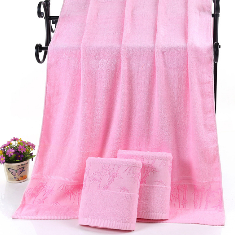 1pcs/lot Bamboo Fiber Bamboo Towel Thick Towels 70x140cm Beach Towel Super Soft Antibacterial Bathroom Products