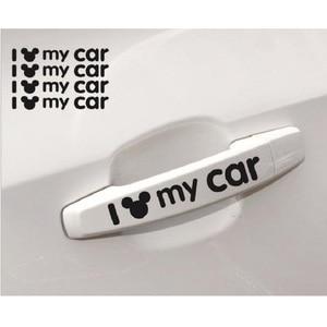 Image 3 - Mickey Mouse I love my รถสะท้อนแสงสติกเกอร์จัดแต่งทรงผมประตูหน้าต่างตกแต่งอุปกรณ์เสริมสำหรับรถยนต์ BMW Mercedes ฯลฯ