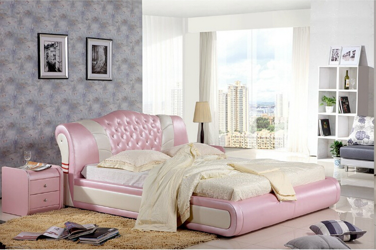 High quality factory price royal large king size leather soft bed bedroom furniture soft bed 1159 матрас dreamline king tradition soft 150х195 см