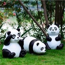 High Quality Classical Resin Gift Panda Garden Decoration Artificial Rare  Animal Pandas Don Home Ornament Villa