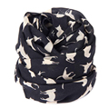 Good Deal Fashion Soft Warm Chiffon Black Cats Printed Women Scarf Shawl Lady Neck Scarves Wrap Stole Muffler 1PC