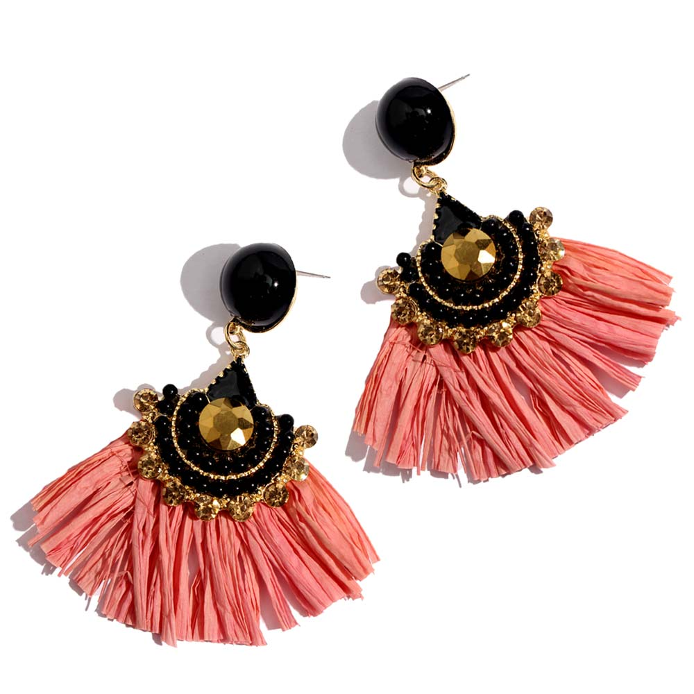 Gold Tassel Silk Handmade Dangle Trim Fringe DIY Jewelry Making Fashion Pendant