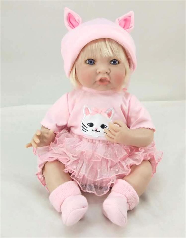 Pursue 20/51cm Pink Dress Handmade Baby Reborn Silicone Girl Doll Toys for Children Girls House Play Educational Christmas Gift hot sale 1000g dynamic amazing diy educational toys no mess indoor magic play sand children toys mars space sand