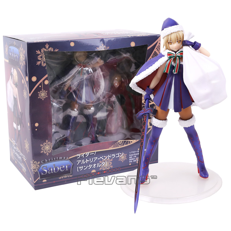 Fate Grand Order Saber Christmas Ver. 1/7 Scale Painted Figure Collectible Model Toy fate stay night unlimited blade works king of knights saber 1 7 scale pre painted figure collectible toy 25cm