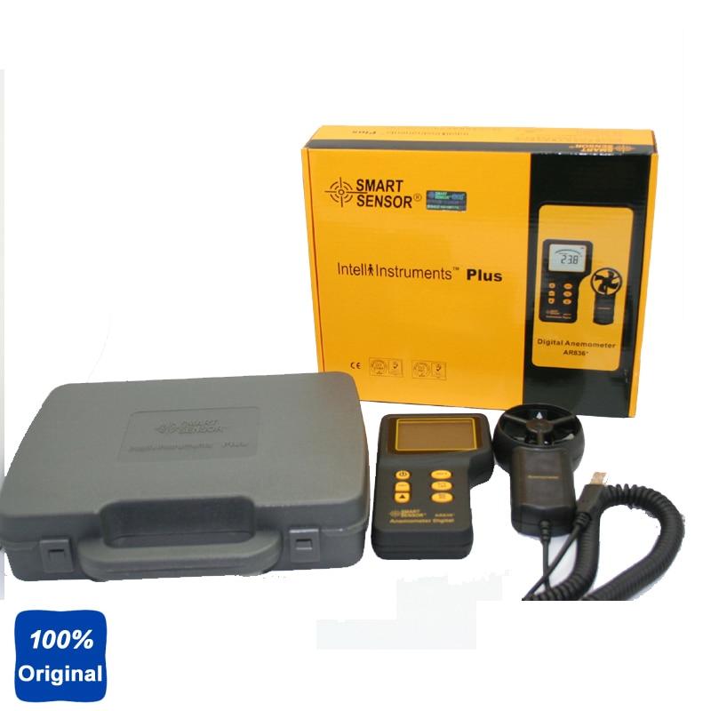 100% Original AR836 Air Flow Wind Speed Anemometer Temperature Tester
