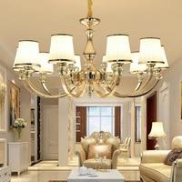 Modern Gold Metal Led Chandeliers Lighting Lustre Crystal Living Room Led Pendant Chandelier Light Bedroom Hanging Lamp Fixtures