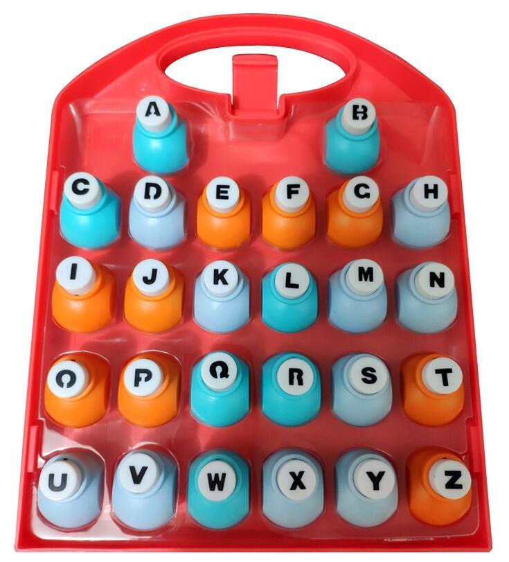 26 English Letter / Alphabet Craft Hole Punch Set ,  Alphabet Paper Punch , Dozen Flower Implement , Paper Cutter