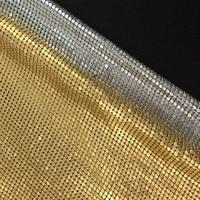 Quality Gold Silver Matt Metal Mesh Fabric Metallic cloth Matt Metal Sequin Sequined Fabric Home Decoration Curtain Cloth