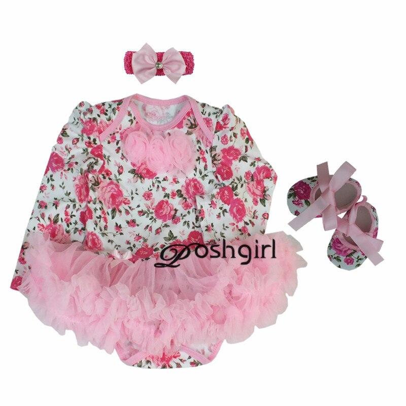 3866121ab Rosa bebé recién nacido ropa de bebé vestido de fiesta Minnie Bebé ...