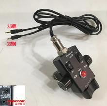 Controle de foco zoom zoom HC X1 AG UX90 dvx200, controle remoto 2.5mm & 3.5mm lanc para panasonic AG AC30 AG UX180 AG AC90 eva1