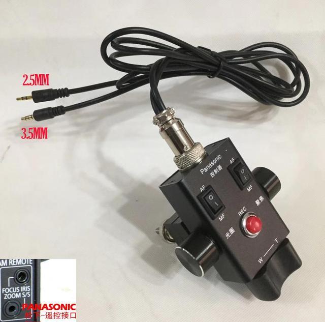HC X1 AG UX90 DVX200 Zoom odak kontrol kamera uzaktan 2.5mm ve 3.5mm LANC denetleyici PANASONIC AG AC30 AG UX180 AG AC90 EVA1