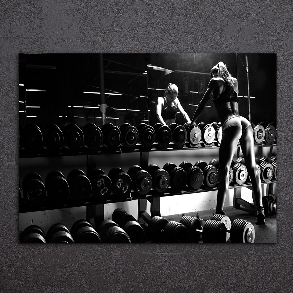 1 Pcs/Set Framed HD Printed Bodybuilding Equipment Wall Art Canvas Pictures For Living Room Bedroom Home Decor Painting