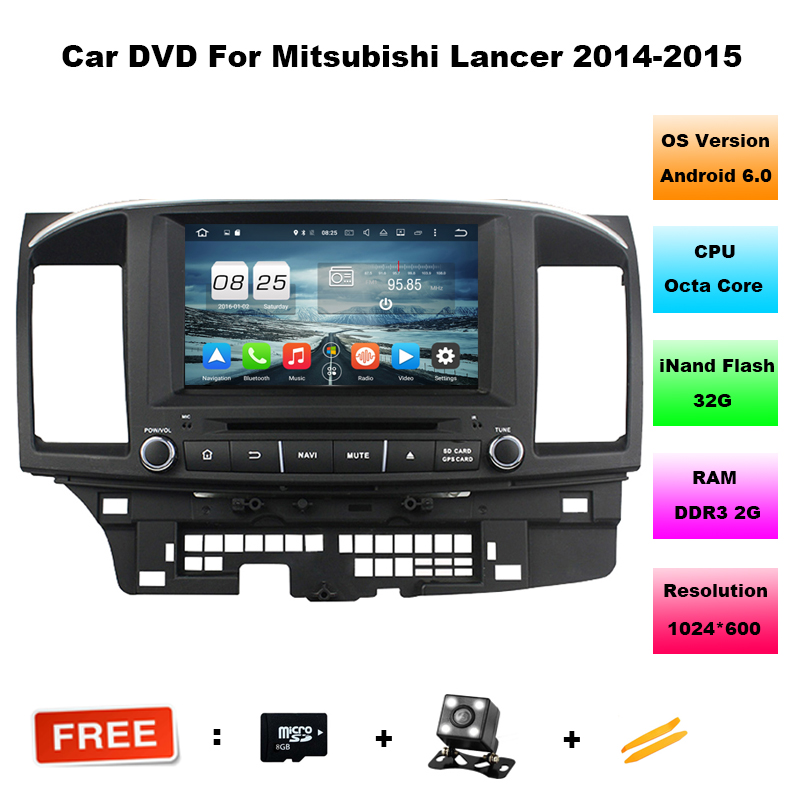 8 Inch 3G 4G Android 6 0 2 DIN 2G 32G Car DVD GPS For MITSUBISHI