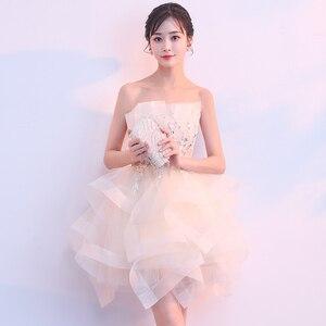 Image 3 - Robe sueur courte sans manches, robe de princesse demoiselle dhonneur soirée banquet, livraison gratuite, nouvelle collection