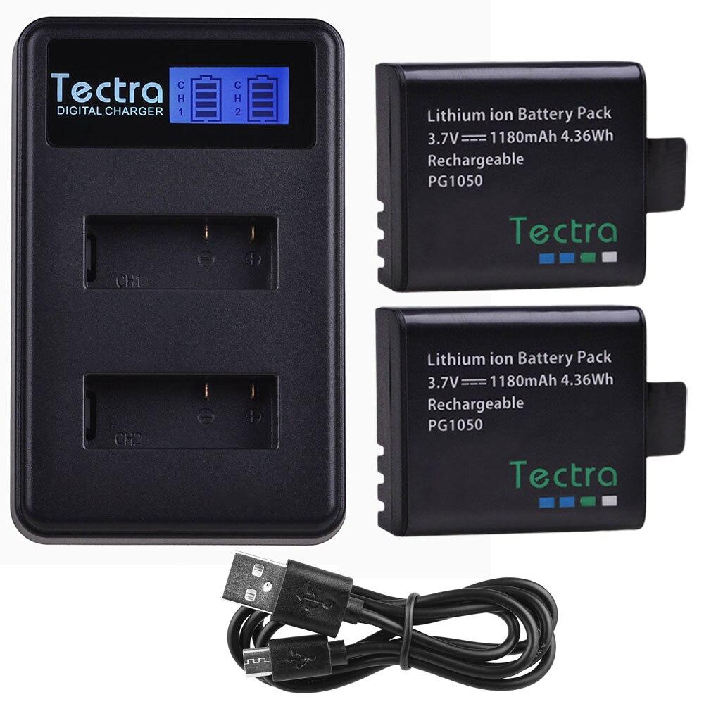 1180mAh 2Pcs PG1050 Battery for SJCAM SJ4000 SJ5000 M10 SJ5000X EKEN H9 H9R H3 H3R H8PRO H8R H8 Battery+LCD Dual Charger+Cable1180mAh 2Pcs PG1050 Battery for SJCAM SJ4000 SJ5000 M10 SJ5000X EKEN H9 H9R H3 H3R H8PRO H8R H8 Battery+LCD Dual Charger+Cable