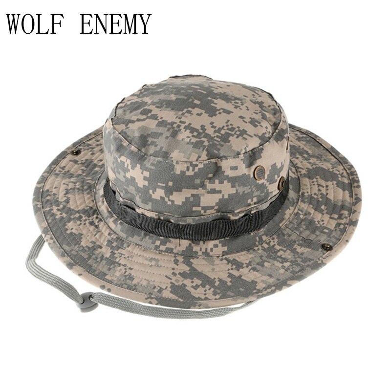 49e8054474435 Al por mayor militar del ejército sombrero bonnie caza sombrero de ala  ancha sol al aire