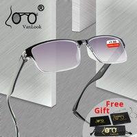 Мужские очки для чтения для зрения градиентные серые линзы анти UV400 стеклянные очки Gafas Lectura Ретро + 1 + 1,25 + 1,75 2 2,25 2,75 3,25