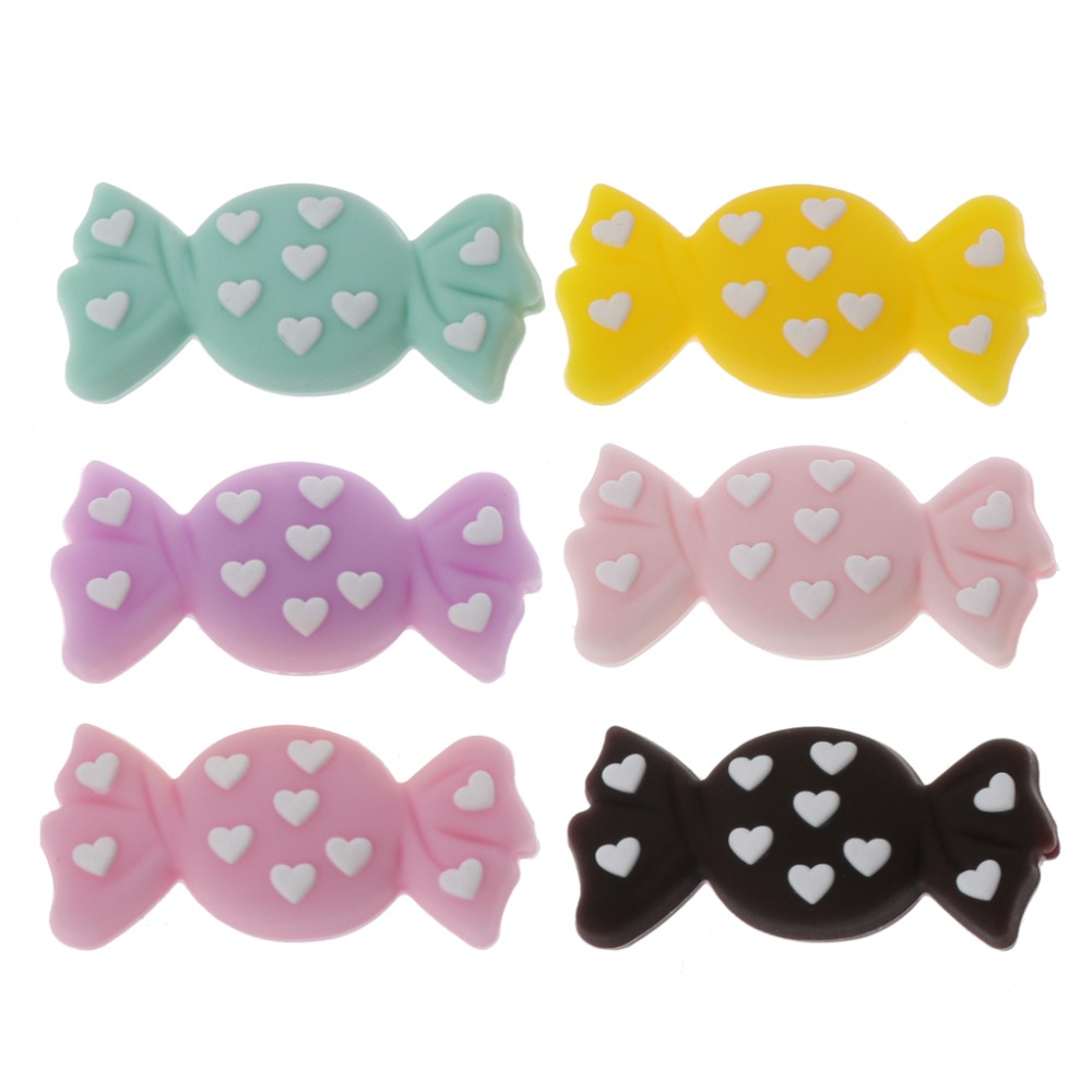 Silicone Beads DIY Teething Baby Teether Candy Cute Colorful Oral Care Bite Chew Newborn Safe Food Grade Crafts Pendant