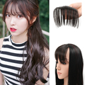 1PC Front Hair Bangs Extension Clip in Hair Bang Synthetic Heat Resistant Fiber Hair Fringe Cute Hair Fringe Bangs 3 Colors