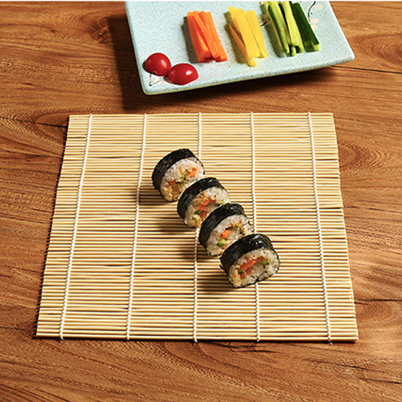 Sushi Rice Maker With New Design 2019 Japanese Sushi Rice Japanese Rice Maker Sushi Accessories Bamboo Non-stick Roller Mat Handle Rice Paddle Sushi Maker Sushi Mat Rice Mould